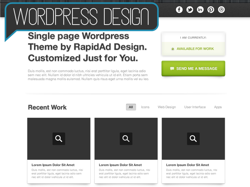 Wordpress Deesign - Starting at $399